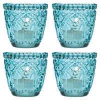 Turquoise Blue Candle Holders