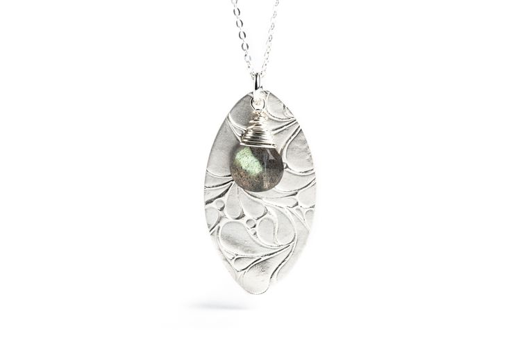Sterling silver and labradorite necklace. www.danielleoconnorjewellery.com