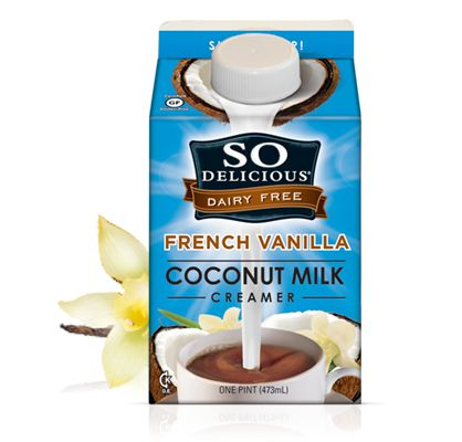 SO Delicious French Vanilla Coconut Creamer. This is sweeter then their ice cream!!! It made my coffee taste like a treat (we all need treats now and again). So, if you love sugar you will love this....