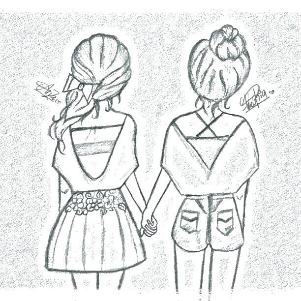 Best Friend Coloring Pages Bff Coloring Pages Coloring Page Cute Best Friend Drawings Bff Drawings Drawings Of Friends