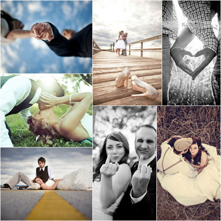 22 Wedding Photo Ideas & Poses {Bridal Must Do!} - - I like the heart one & the one with the bride & groom kissing in the front with bridal party in background