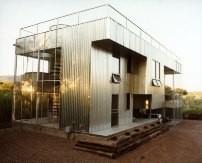 corrugated metal house - I want to live in one of these .... ALONE !!