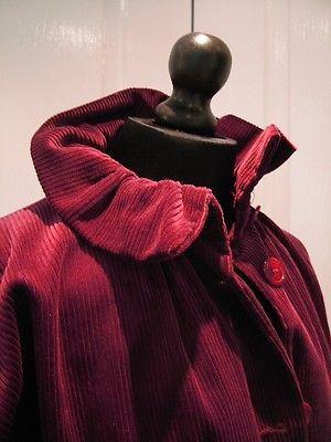 Laura Ashley vintage burgundy corduroy coat size 12 riding style RARE FIND | eBay