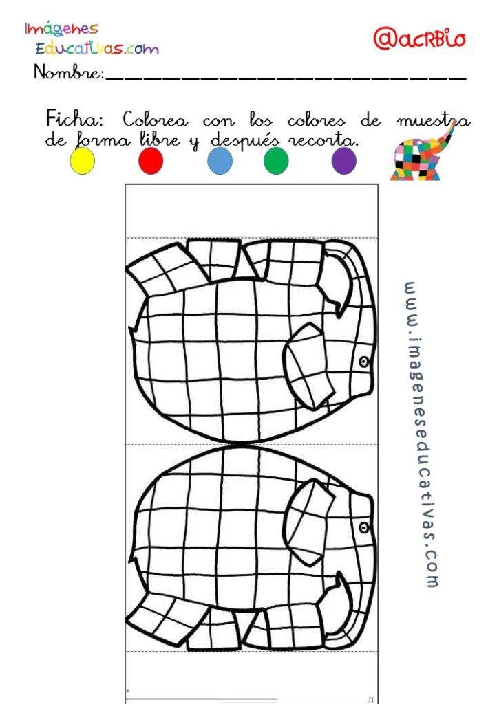 Elmer Elefante atención y grafo (7 | actividades para vladi ...