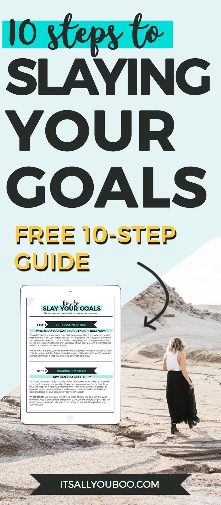 Ready to have your most epic year yet? Stop just setting goals and start slaying them! Get your free 10-step guide.