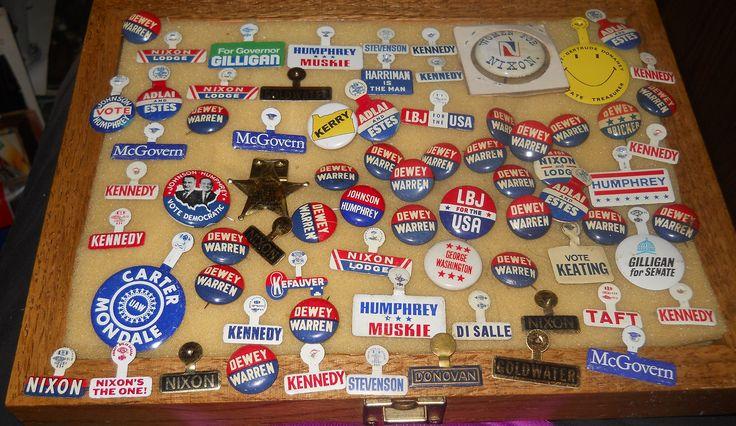 Lot Vintage ~73~ Political Pinback Lot~Nixon/Dewey/Johnson/Humphrey/Aldai/Estes by memoriestreasures on Etsy