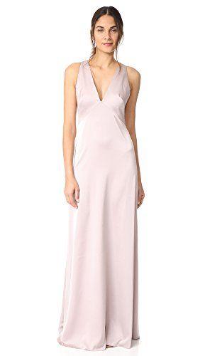 Monique Lhuillier Bridesmaids Women's V Neck Gown, Rose, ... Dresses Online - Elegant dresses and affordable dresses. Buy online dresses only from the  best online boutiques.