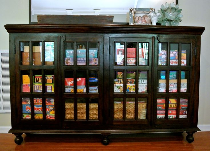 1000 ideas about board game organization on pinterest for Game storage ideas