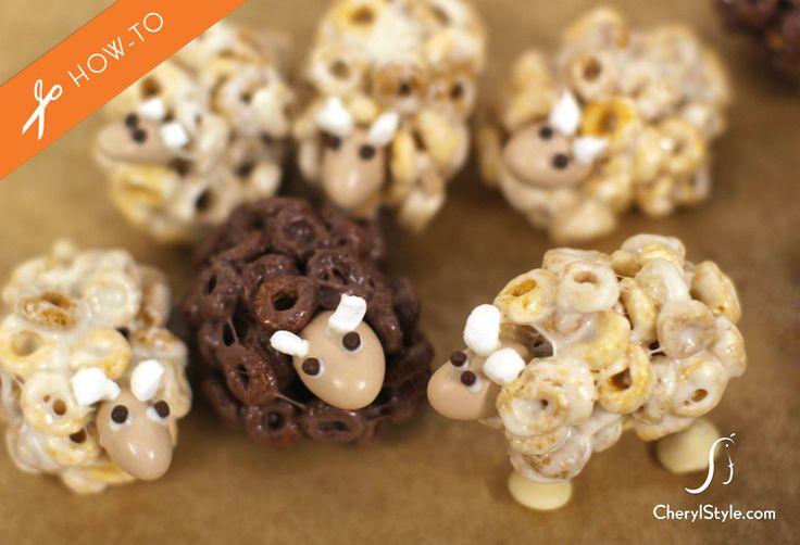 How to Make Cheerios Sheep Snacks ruby preschool