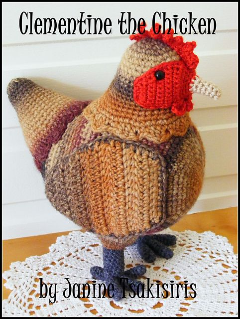 86 best Crocheted Chickens images on Pinterest   Chicken, Knit ...