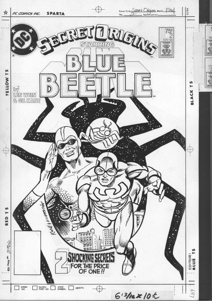 Secret Origins # 2 Cover-[ stat/ camera ready [ by Gil Kane & Ricardo Villagran Comic Art