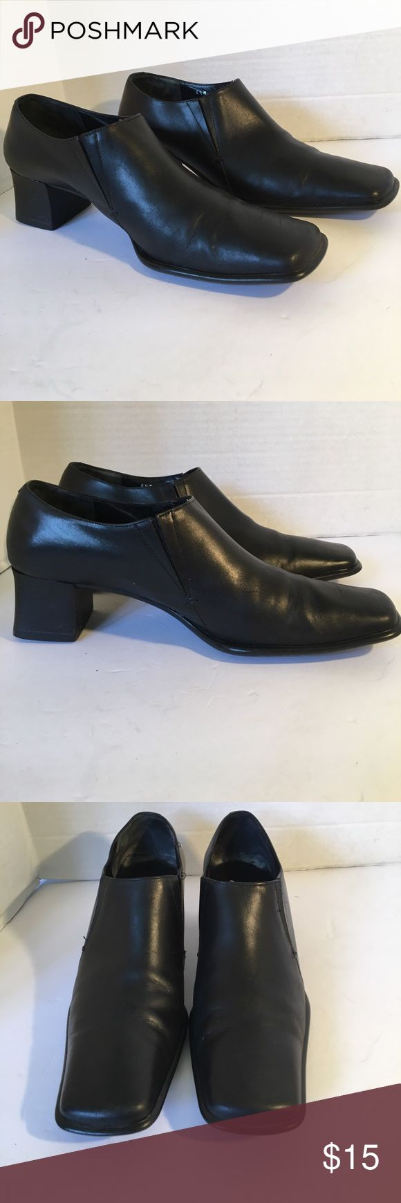 """Stunning Joan & David Leather Shoes Stunning leather shoes made in Italy . Slip on with slit sides to expand. In great condition! Soles great condition. Square toes. 2"""" heels. IF YOU PURCHASE MORE THEN 2 ITEM, YOU CAN ONLY BUNDLE UP TO 3 ITEMS PER ORDER OR IT WILL BE CANCELED Joan & David Shoes Ankle Boots & Booties"""