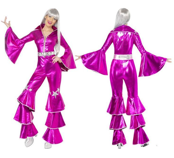 Disfraz Disco Dancing Dream Rosa para Mujer talla M | Disfrazzes | Tienda de disfraces online