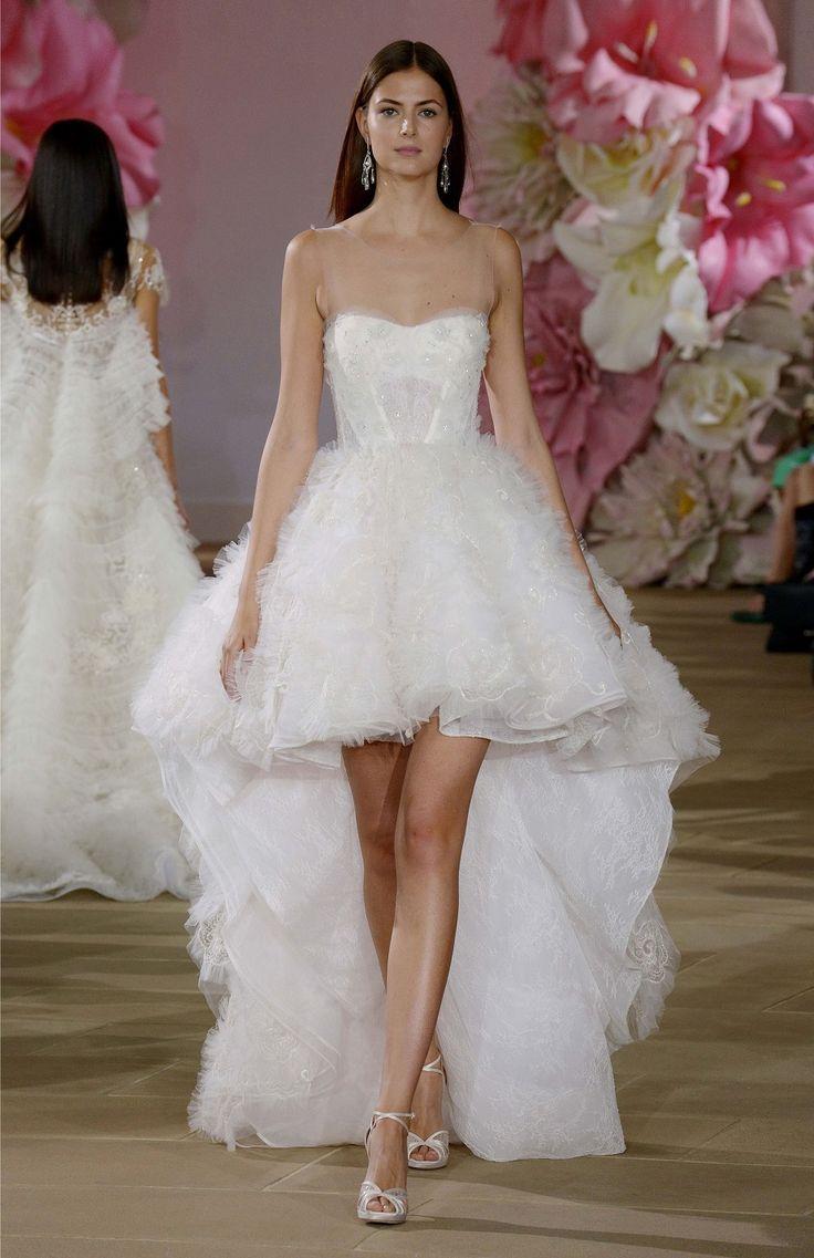Hochzeitskleid kurz hinten lang