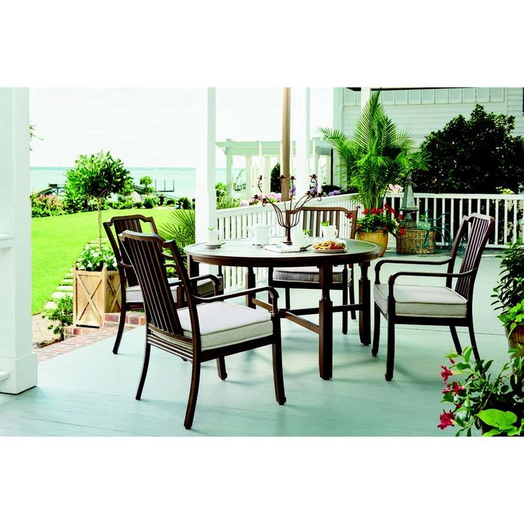 River House Dining Chair Sunvilla Home Outdoor Patio Space With Images Patio Dining Set Outdoor Patio Space Outdoor Furniture Sets