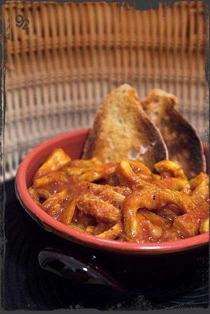 Trippa alla fiorentina / Tripe Florentine style (with tomato sauce & parmesan)