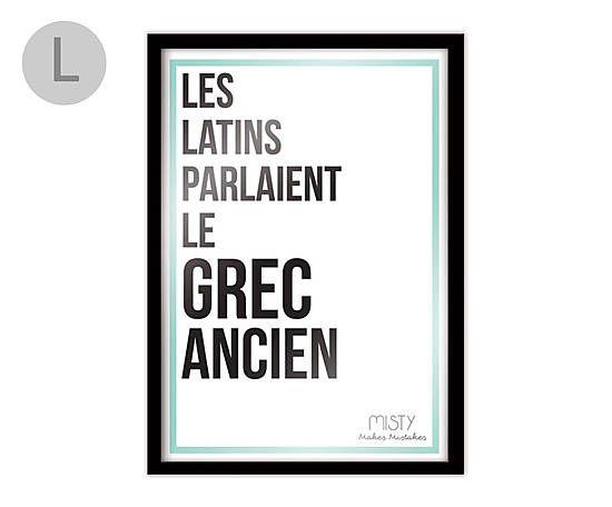 Affiche Encadr E Les Latins 80 60 Ecriture Pinterest