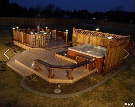 backyard+hot+tub+ideas | Hot Tub. Wow, my dream addition to my back yard. | Ideas