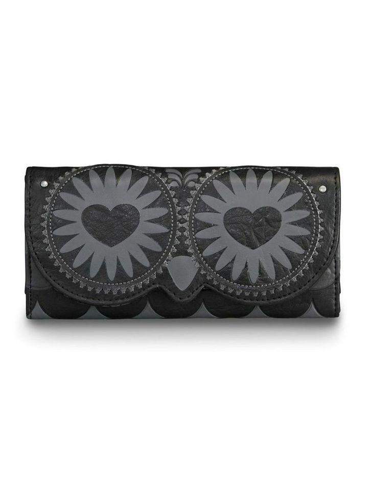 """Black Owl W/ Heart Eyes"" Wallet by Loungefly (Black) #InkedShop #owl #wallet #cute #style #fashion #accessories"