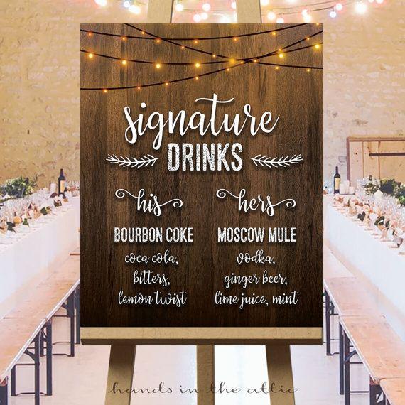 Signature de boissons signe de mariage son et par HandsInTheAttic