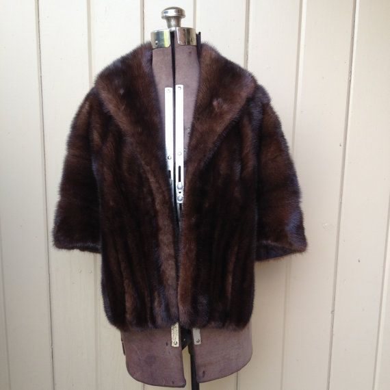 I like the shape of this... Fur Cape Fur Coat Fur Wrap by couturecafe on Etsy, $225.00