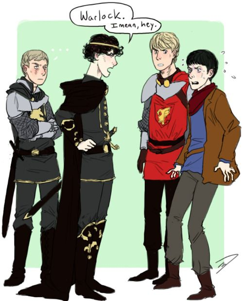 Why Sherlock would have made Merlin a very short series. http://supernining.tumblr.com