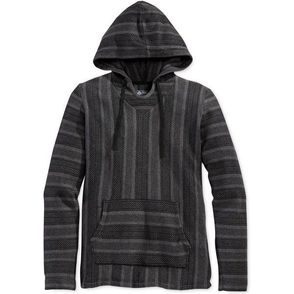 American Rag Baja Sweater, (83325 PYG) ❤ liked on Polyvore featuring men's fashion, men's clothing, men's sweaters, deep black and american rag cie