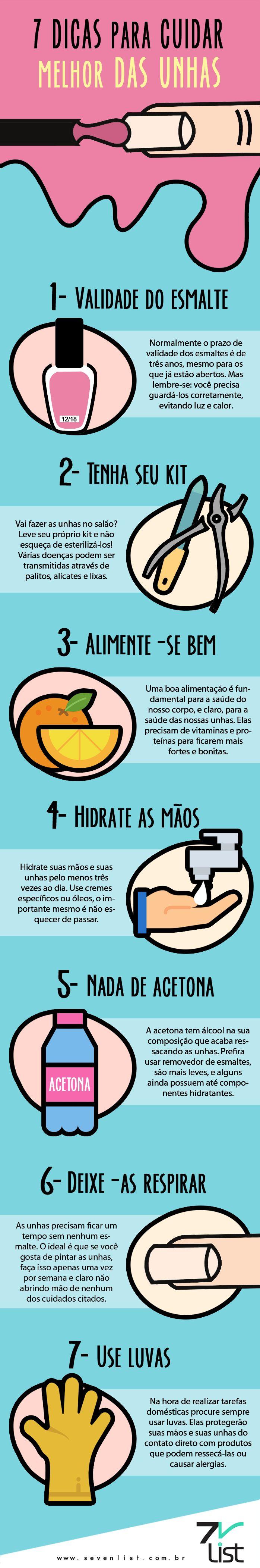 7 dicas para cuidar melhor das unhas
