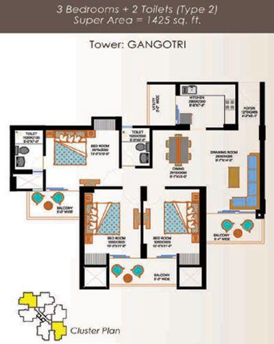 Eros Sampoornam Floor Plan 6