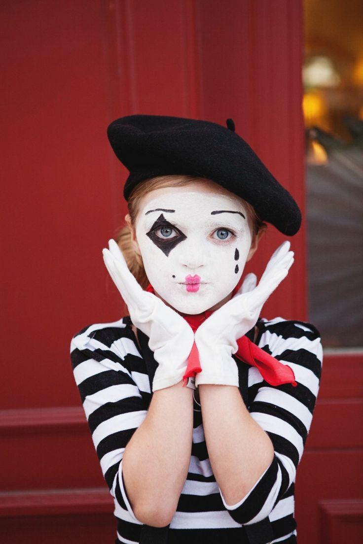 kinder make up karneval halloween pantomime kostüm | Clown ...
