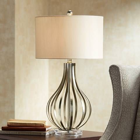 Hayden silver champagne open gourd table lamp style 6r902