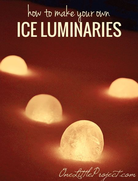Ice Lanterns: How to make your own ice luminaries from balloons.  A great activity for this cold and dark weather!