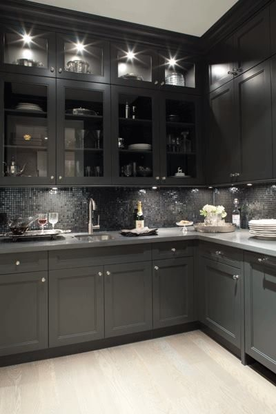 All black kitchen. Get these floors at Express Flooring http://www.expressflooring.com/referalprogram.php?ref_id=MzEw
