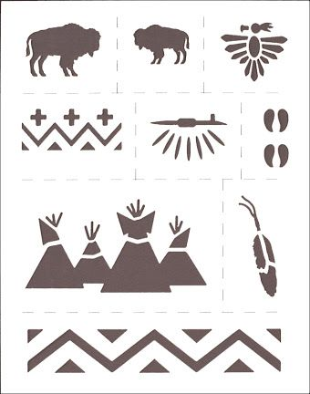 native american stencils - Google Search