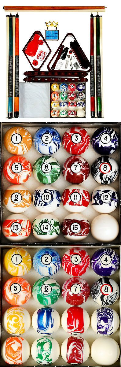 Ball and Cue Racks 75185: Billiard - Pool Table Accessory Kit W Marble - Swirl Style Ball Set Mah Finish -> BUY IT NOW ONLY: $122.45 on eBay!