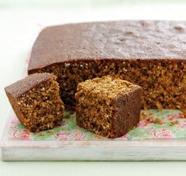 Yorkshire Parkin - classic dark brown ginger cake made from oats