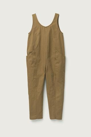 Clyde Jumpsuit in Cotton Canvas Clay
