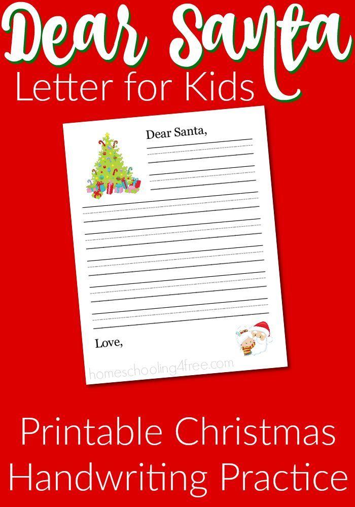4251d96364118d49dbc141b4f0c0c805 Santa Letter Template Kindergarten Printables on