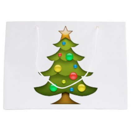 #Christmas tree - Emoji Large Gift Bag - #Xmas #ChristmasEve Christmas Eve #Christmas #merry #xmas #family #kids #gifts #holidays #Santa