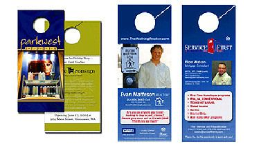 Door Hangers target residential customers for less than 10 cents each! 2daypostcards 5k economy runs of full-color door hangers are printed full-color on both sides with our durable high gloss aqueous coating. Die cutting is included in the cost of all Door Hangers.  Two standard sizes available. (3.5 x 8.5 and 4.25 x 11) http://ift.tt/2uzLLGT #doorhanger #postcards #realestate #Dallas