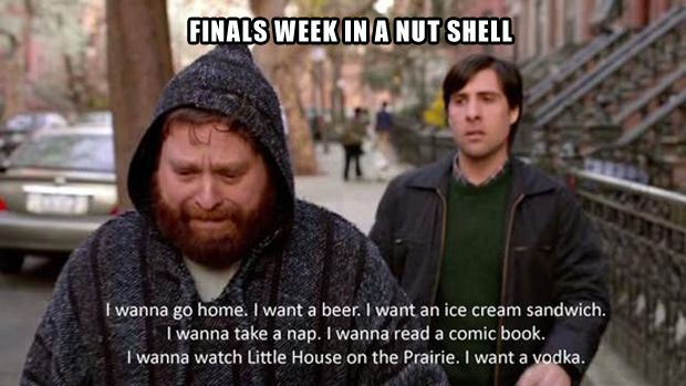 Yup. This is finals week in a nutshell. #college #collage
