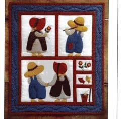 : Sue & Sam Felt wall quilt kit by Rachel T.Pellman -