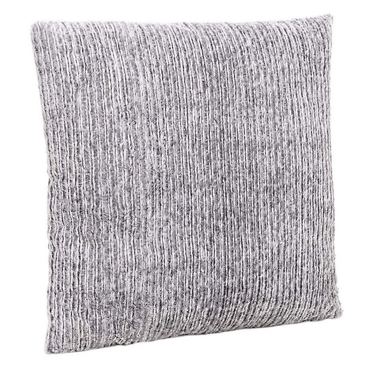 SYNTHETIC FUR CUSHION COVER IN GREY COLOR 60X60 - Furs - FABRIC ITEMS