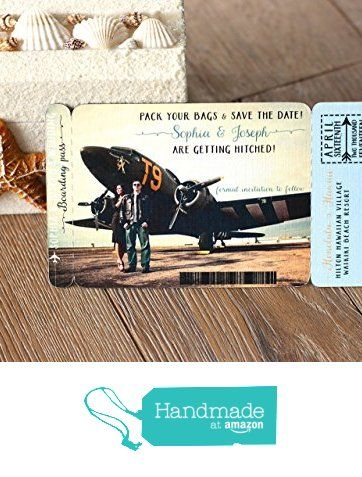 Boarding Pass Save the Date Magnet. Destination Wedding Invitation with photo. DESIGN FEE from Party Glamour Shop https://www.amazon.com/dp/B0164UV9S6/ref=hnd_sw_r_pi_dp_Mjd7xbNRKDBVR #handmadeatamazon
