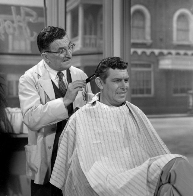Still of Andy Griffith and Howard McNear in The Andy Griffith Show