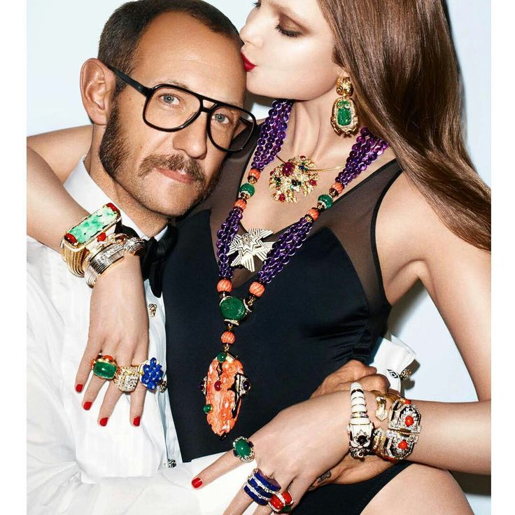 David Webb jewelry photographed by and with the famous Terry Richardson ❤️ #davidwebbjewels