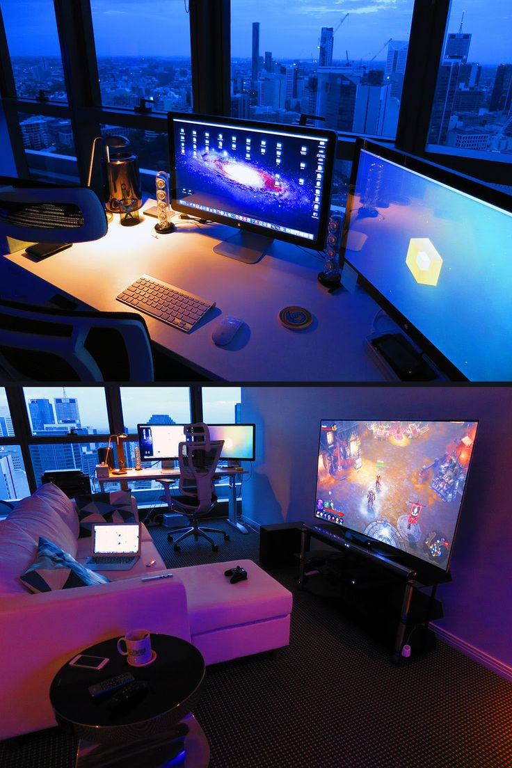 A redditor uses 4 x Philips HUE wireless light bulbs which allow them to  control the   Gaming Computer RoomComputer Room IdeasGaming. 17 Best ideas about Gaming Room Setup on Pinterest   Gaming setup