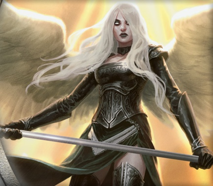 Avacyn the Archangel, the Legendary creature from Magic: The Gathering Avacyn Restored.