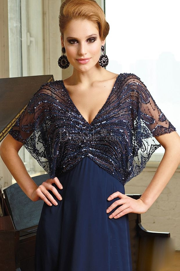Glamorous Column Mother Of The Bride Dress With Beadings