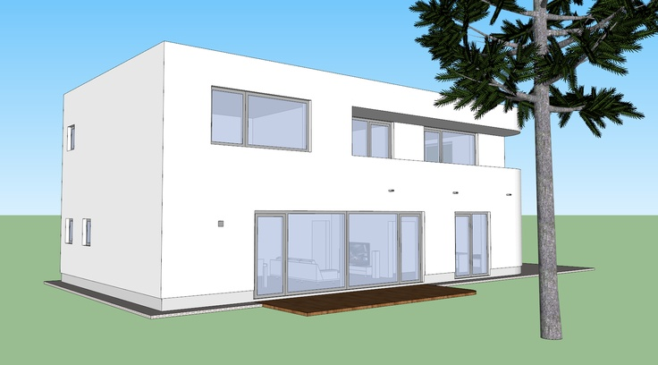 South-west view of our Prague home. Google Sketchup.